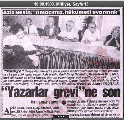03_Milliyet_18081989_Aziz Nesin_Açlık Grevi
